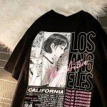 E-girl Harajuku Anime print T-shirt Los Angeles 4