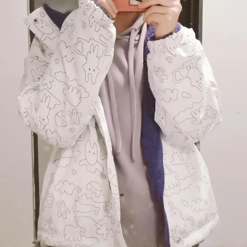 Harajuku E-girl Double Sided Winter Lambswool Imitation Jacket 41