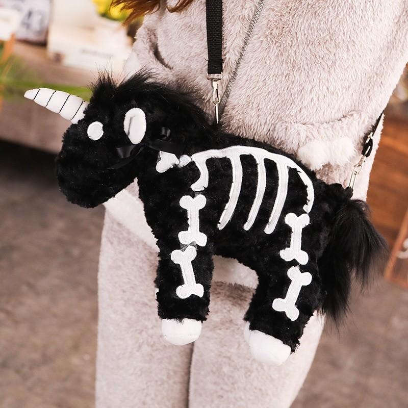 Punk unicorn Skeleton Crossbody Bag 44
