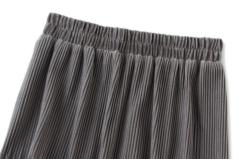 Harajuku Vintage Long Velvet Pleated Skirts 49