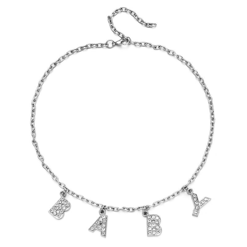 E-girl Y2K Soft girl Letter Necklace 51
