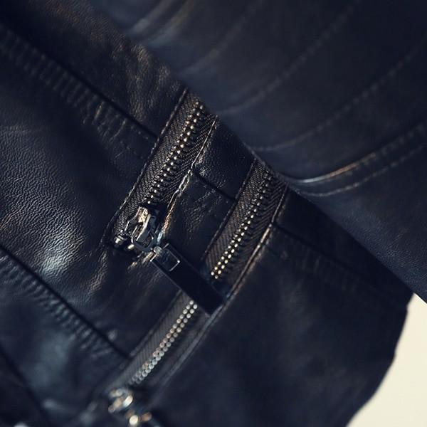 Punk Egirl Motorcycle PU Leather Jacket 49