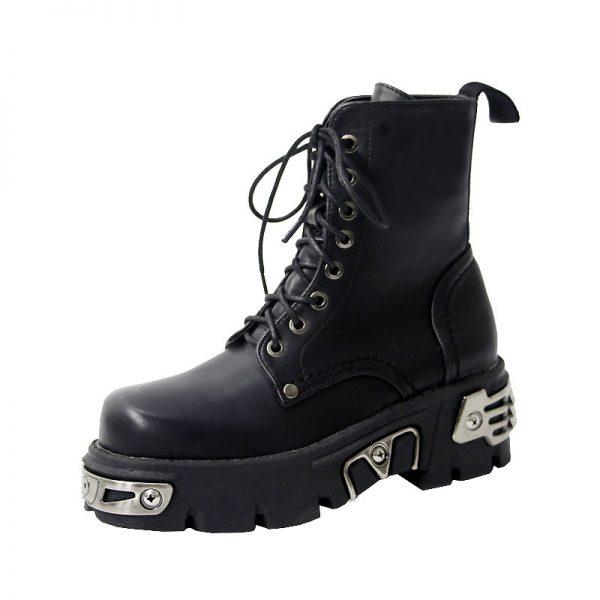 Egirl Punk Style Platform Chunky Shoes with Metal Decor 6