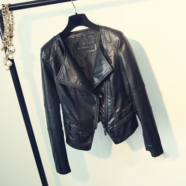 Punk Egirl Motorcycle PU Leather Jacket 44