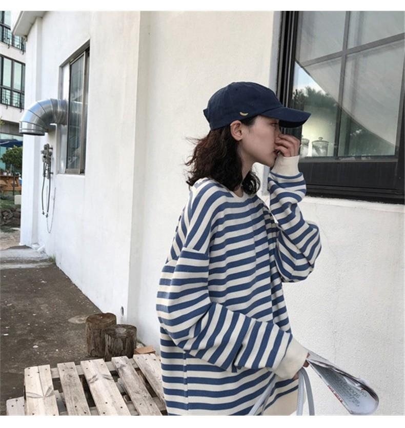 Harajuku E-girl Grunge striped cotton Sweatshirt 44