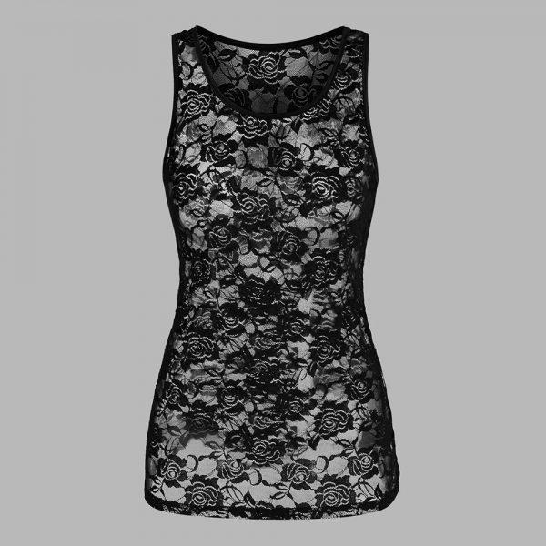 E-girl Gothic Punk Y2K Off Shoulder T-Shirt with Skull print 5