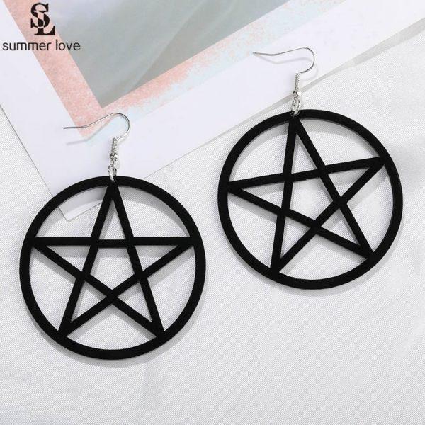 Egirl Eboy Gothic Punk Acrylic Large Star Earrings 1