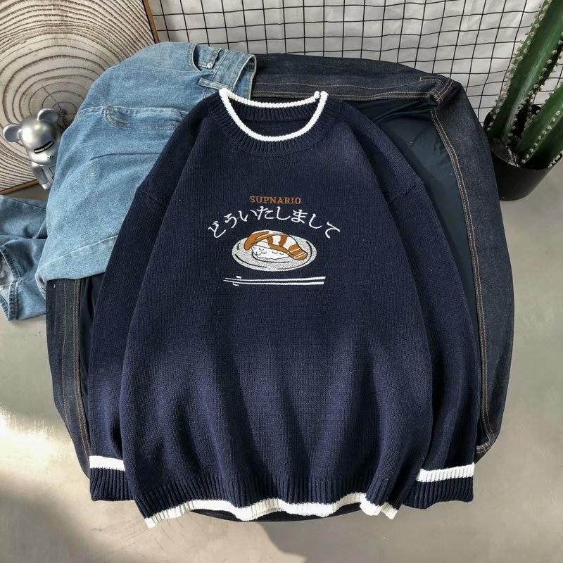Harajuku E-boy E-girl Knitted Sweater with sushi embroidery 43