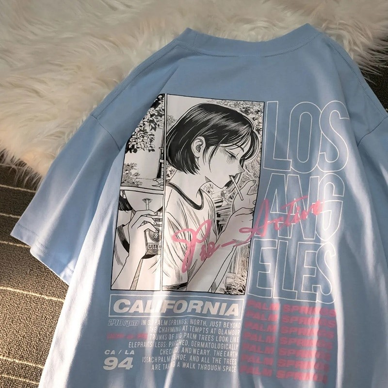 E-girl Harajuku Anime print T-shirt Los Angeles 41