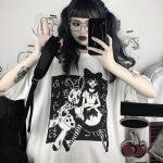 E-girl Harajuku Punk Aesthetic T-Shirt with cartoon print 5