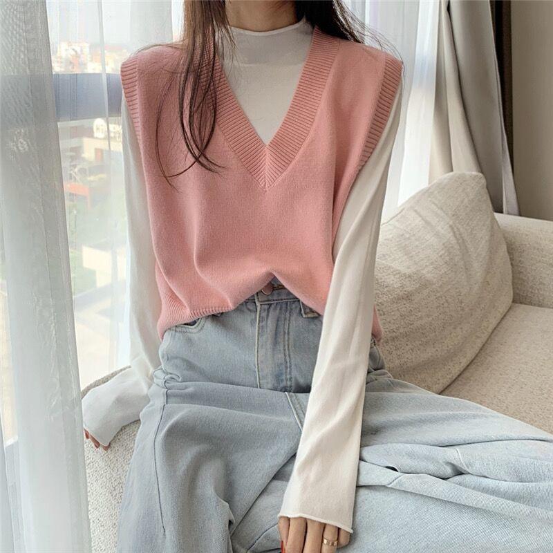 Soft Girl E-girl Harajuku Knitted V-Neck Sleeveless Vest 57