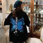 Harajuku E-girl E-boy Butterfly Print Loose T-shirt 3