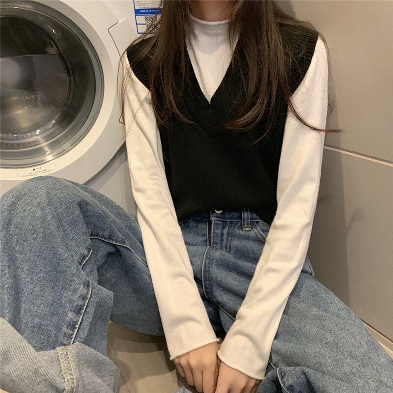Soft Girl E-girl Harajuku Knitted V-Neck Sleeveless Vest 54