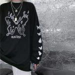 E-girl Gothic Punk Harajuku T-shirt with butterflies print 4