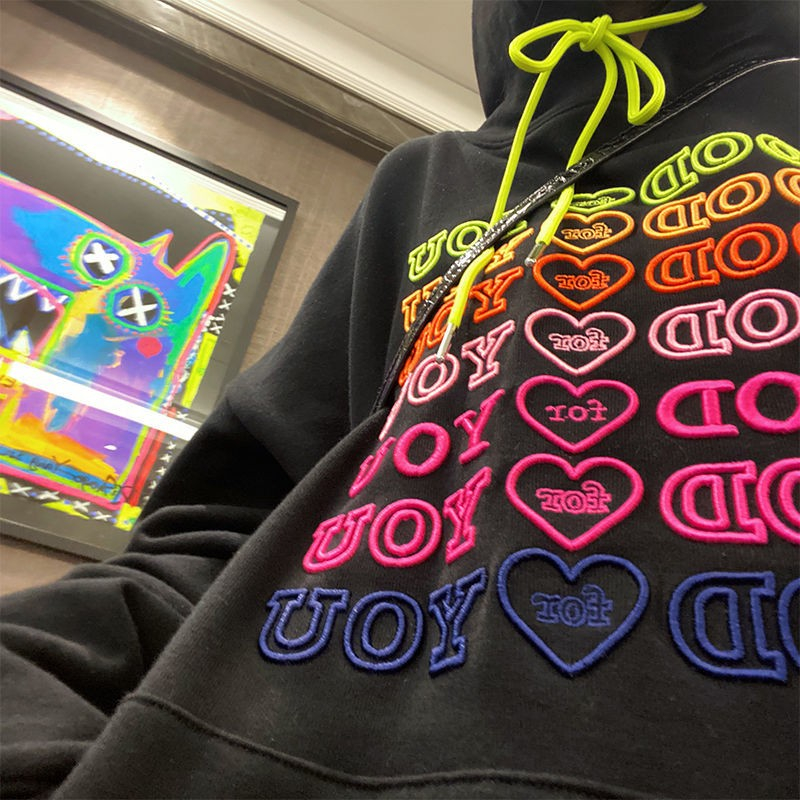 E-girl Soft girl oversized Harajuku hoodie with Good for You embroidery 46