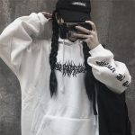 Harajuku Gothic E-girl Loose Hoodie with gothic print 4