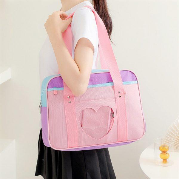 Soft Girl Egirl Harajuku Canvas Large Handbags 1
