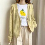 Harajuku E-girl Soft girl Kawaii Cardigan Solid Cashmere 4