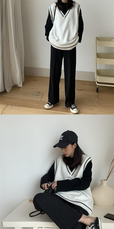 Harajuku Grunge E-girl  V-neck Knitted Vest 43