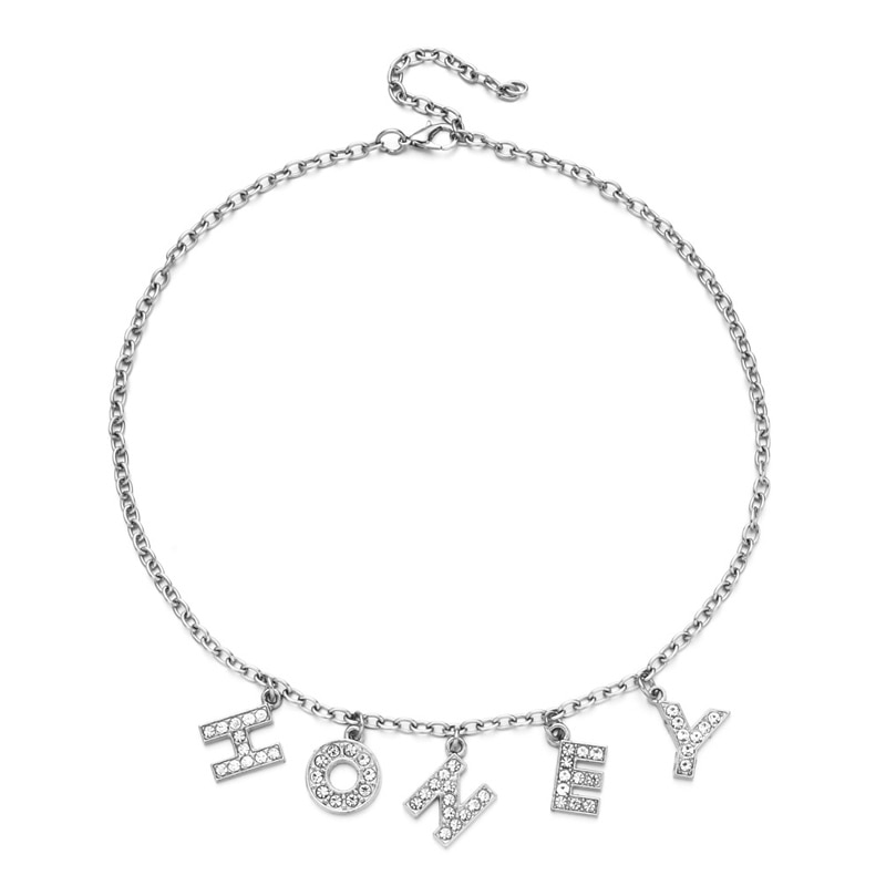 E-girl Y2K Soft girl Letter Necklace 57