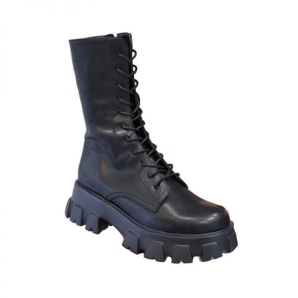 E-girl Gothic Punk Mid Calf Boots 5