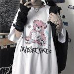 E-girl E-boy Gothic Punk Harajuku T-Shirt with Bear Printing 4