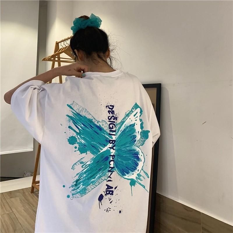 Harajuku E-girl E-boy Butterfly Print Loose T-shirt 47