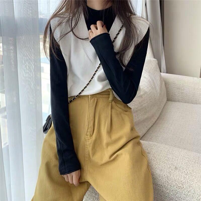 Soft Girl E-girl Harajuku Knitted V-Neck Sleeveless Vest 49