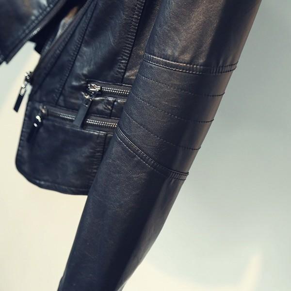 Punk Egirl Motorcycle PU Leather Jacket 51