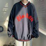E-boy E-girl Punk Gothic Harajuku V-neck sweatshirt  6