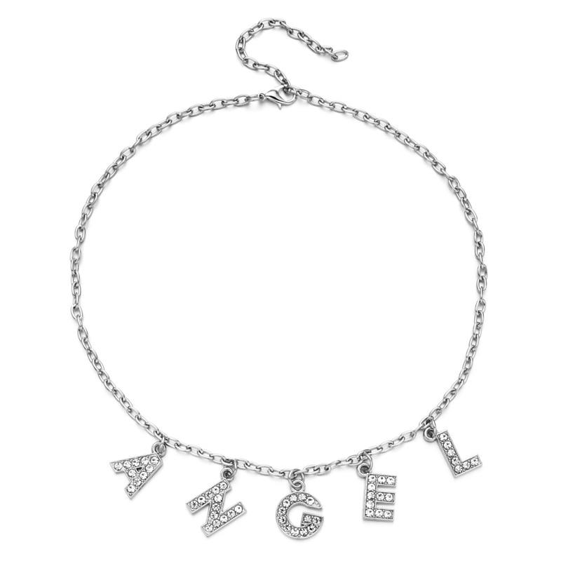 E-girl Y2K Soft girl Letter Necklace 53