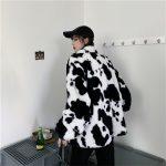 Harajuku E-girl Loose Coat with Cows Printing 6