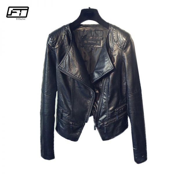 Punk Egirl Motorcycle PU Leather Jacket 1