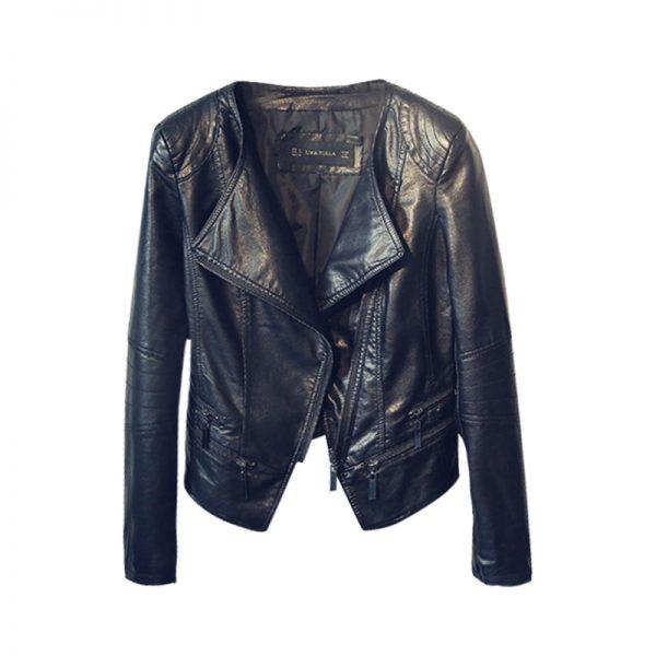 Punk Egirl Motorcycle PU Leather Jacket 6
