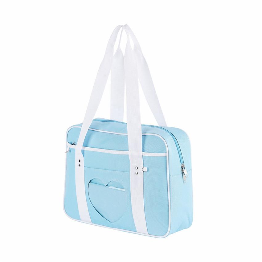 Soft Girl Egirl Harajuku Canvas Large Handbags 47