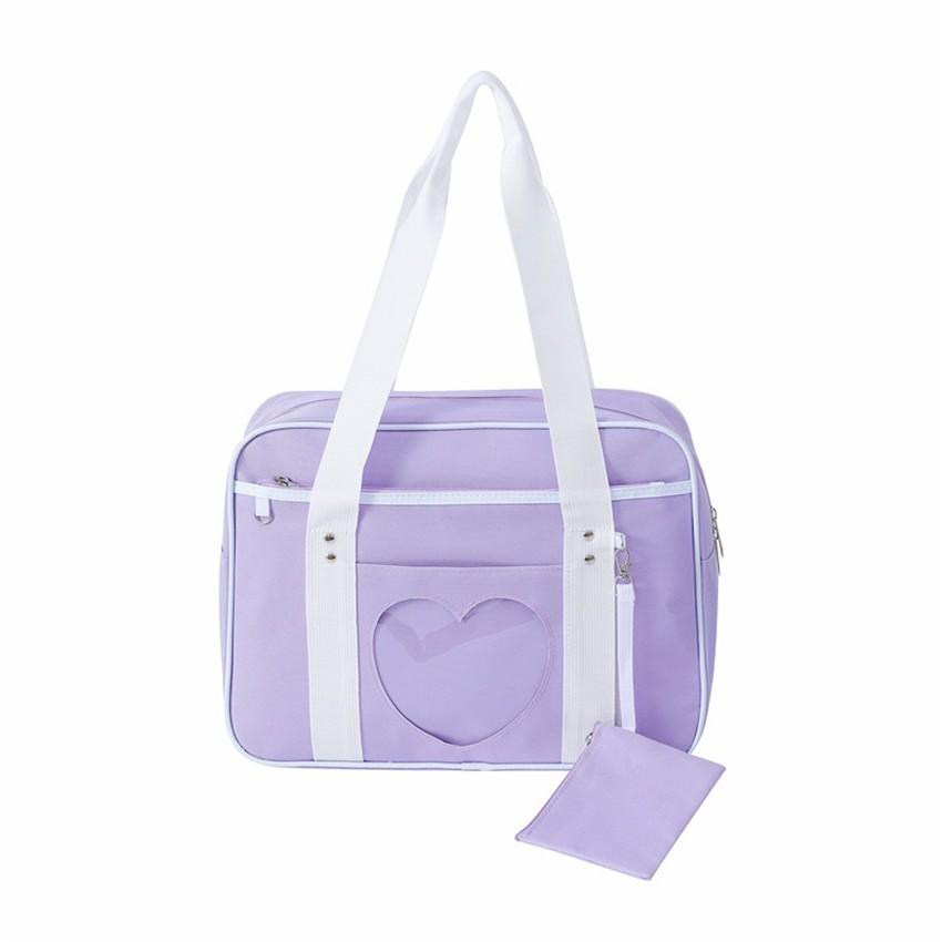 Soft Girl Egirl Harajuku Canvas Large Handbags 50