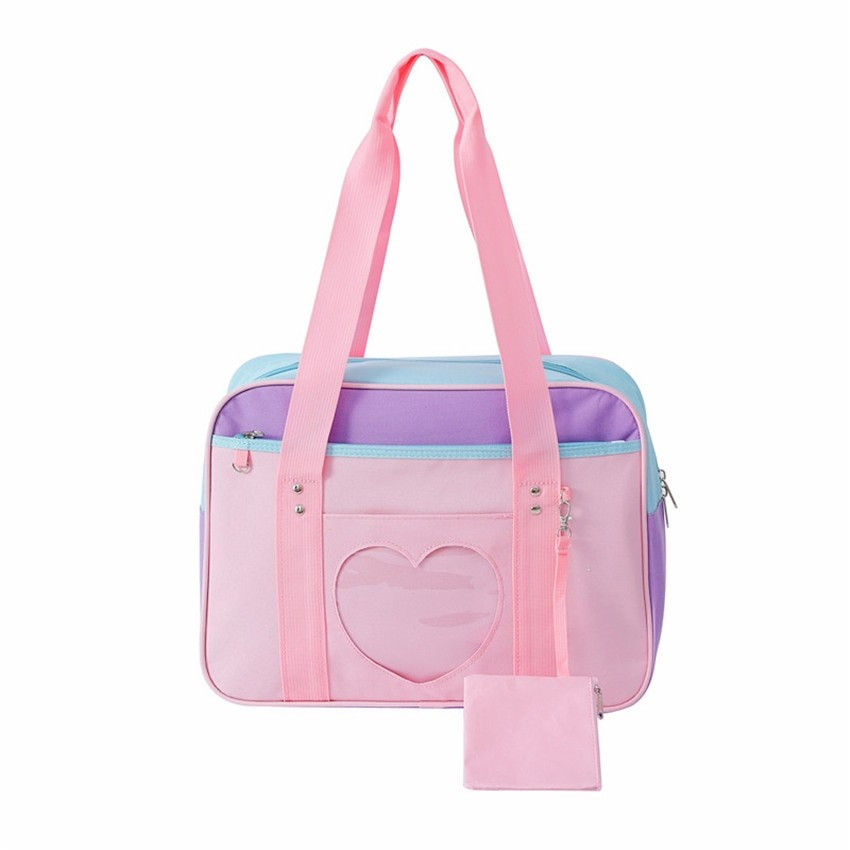 Soft Girl Egirl Harajuku Canvas Large Handbags 53