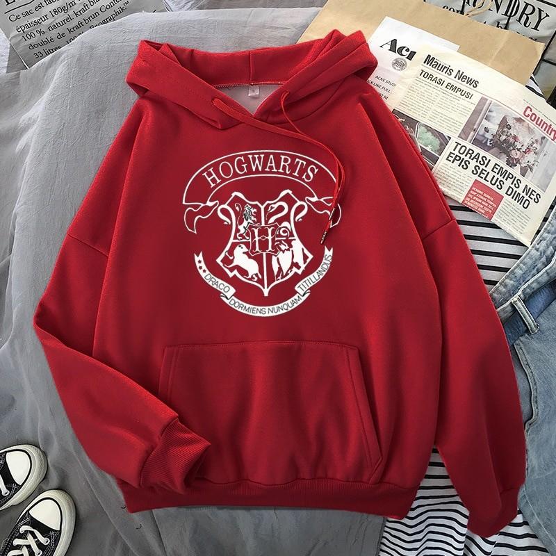 E-girl E-boy Harajuku Fan Hoodie with coat of arms of Hogwarts 39