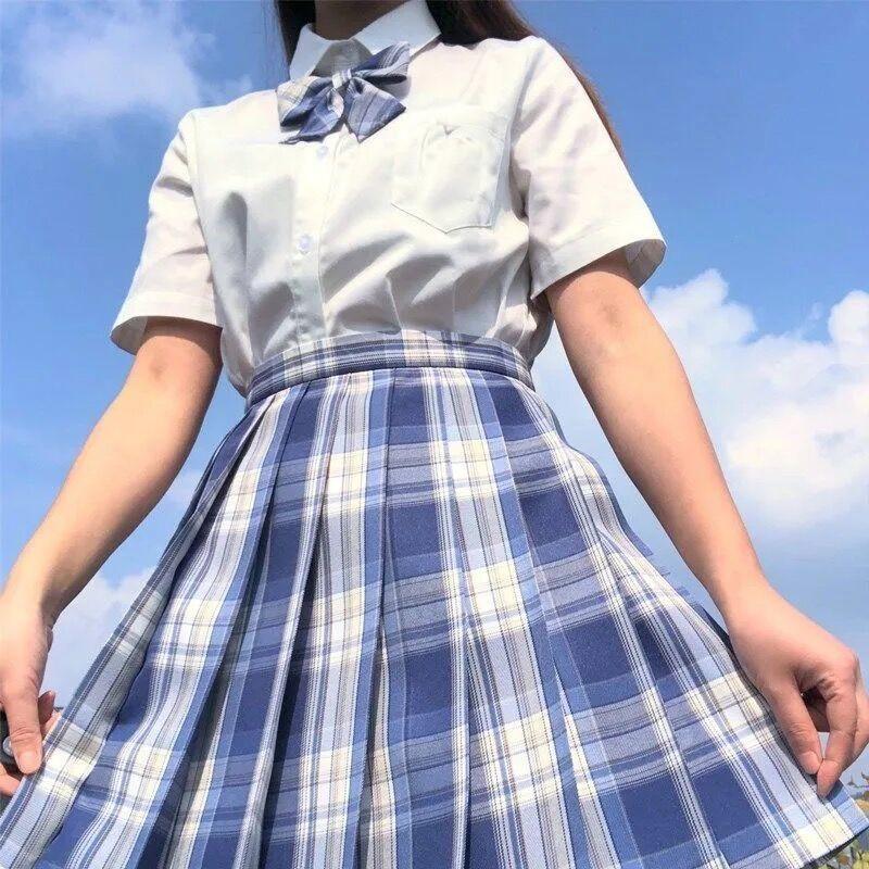 Harajuku E-girl Soft girl Pleated A-Line Plaid Skirts 54