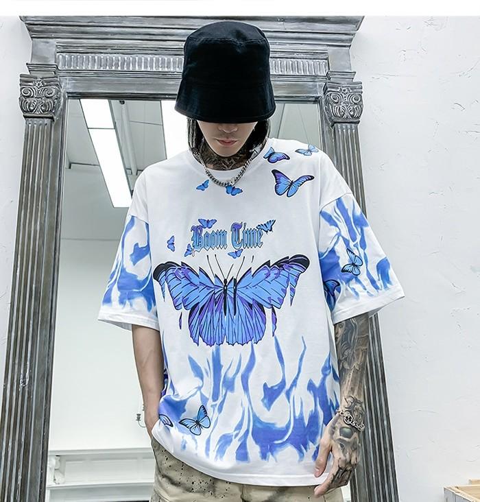 E-boy E-girl Harajuku Punk Butterfly T-Shirt 43