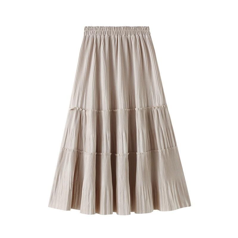Harajuku Vintage Long Velvet Pleated Skirts 45