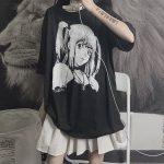 E-girl Harajuku Anime print T-Shirts Death Note Misa Amane 1