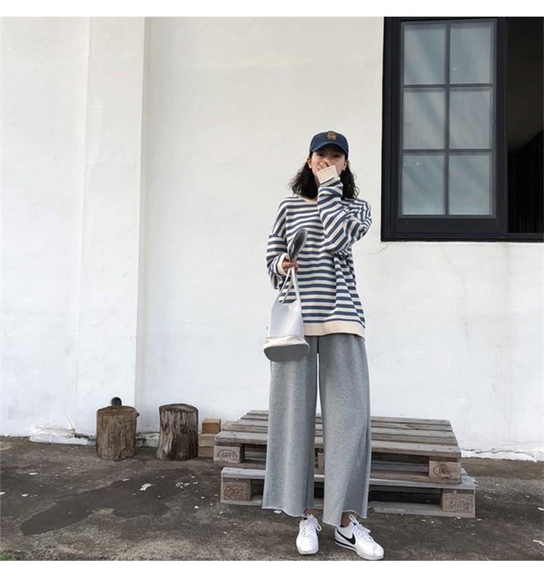 Harajuku E-girl Grunge striped cotton Sweatshirt 43