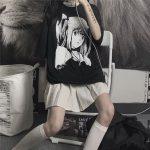 E-girl Harajuku Anime print T-Shirts Death Note Misa Amane 4