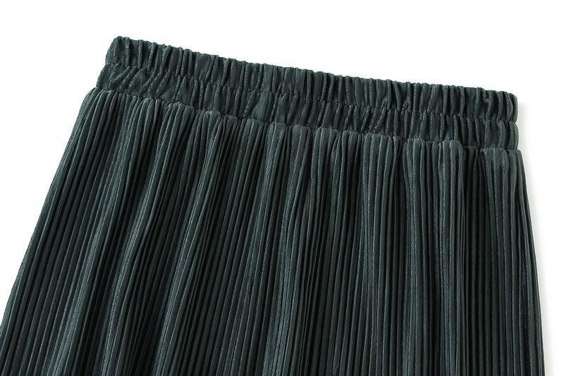 Harajuku Vintage Long Velvet Pleated Skirts 52