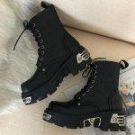 Egirl Punk Style Platform Chunky Shoes with Metal Decor 1