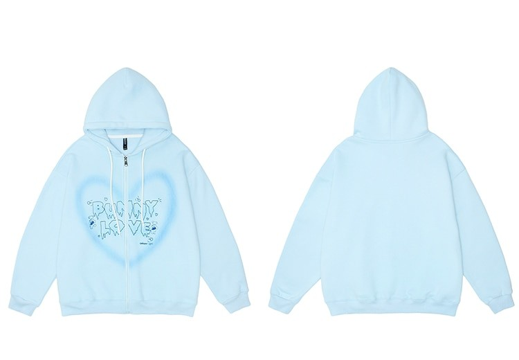 E-girl Y2K Harajuku Hoodie with Graffiti Heart and Letters Print 42