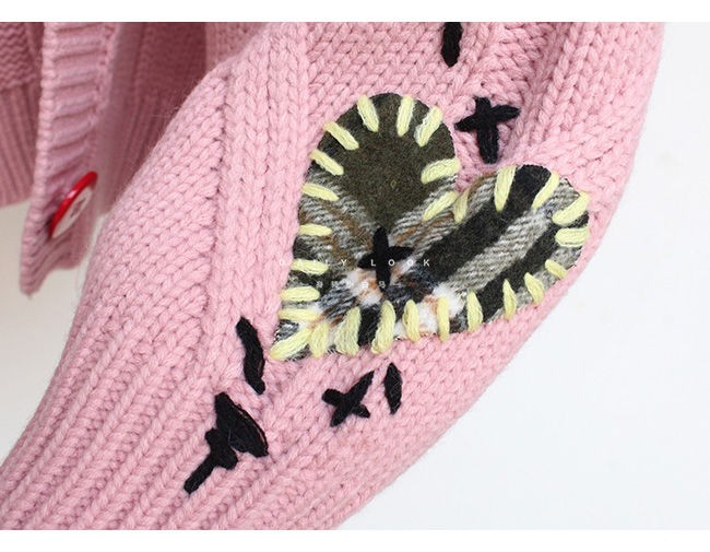 Harajuku Y2K  Cottagecore Loose Knitted Cardigan with Pockets and Embroidery 62