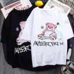 E-girl E-boy Gothic Punk Harajuku T-Shirt with Bear Printing 6