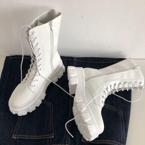 E-girl Gothic Punk Mid Calf Boots 2
